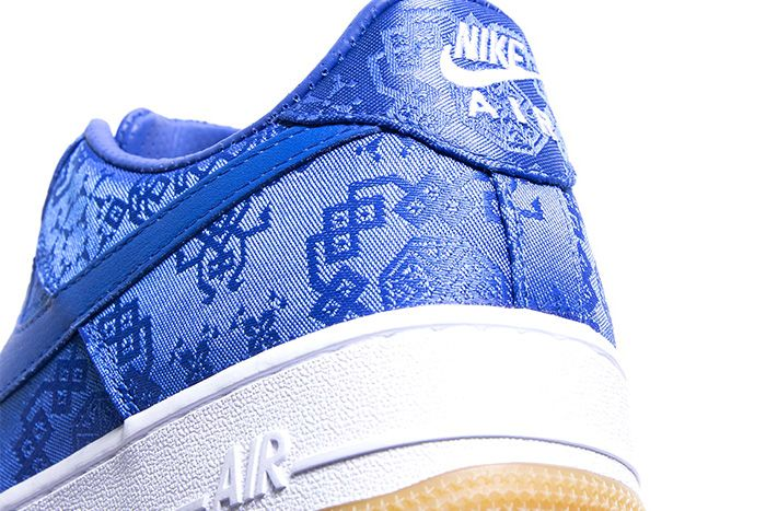 Clot Nike Air Force 1 Low Royale University Blue Silk Cj5290 400 Release Date Heel
