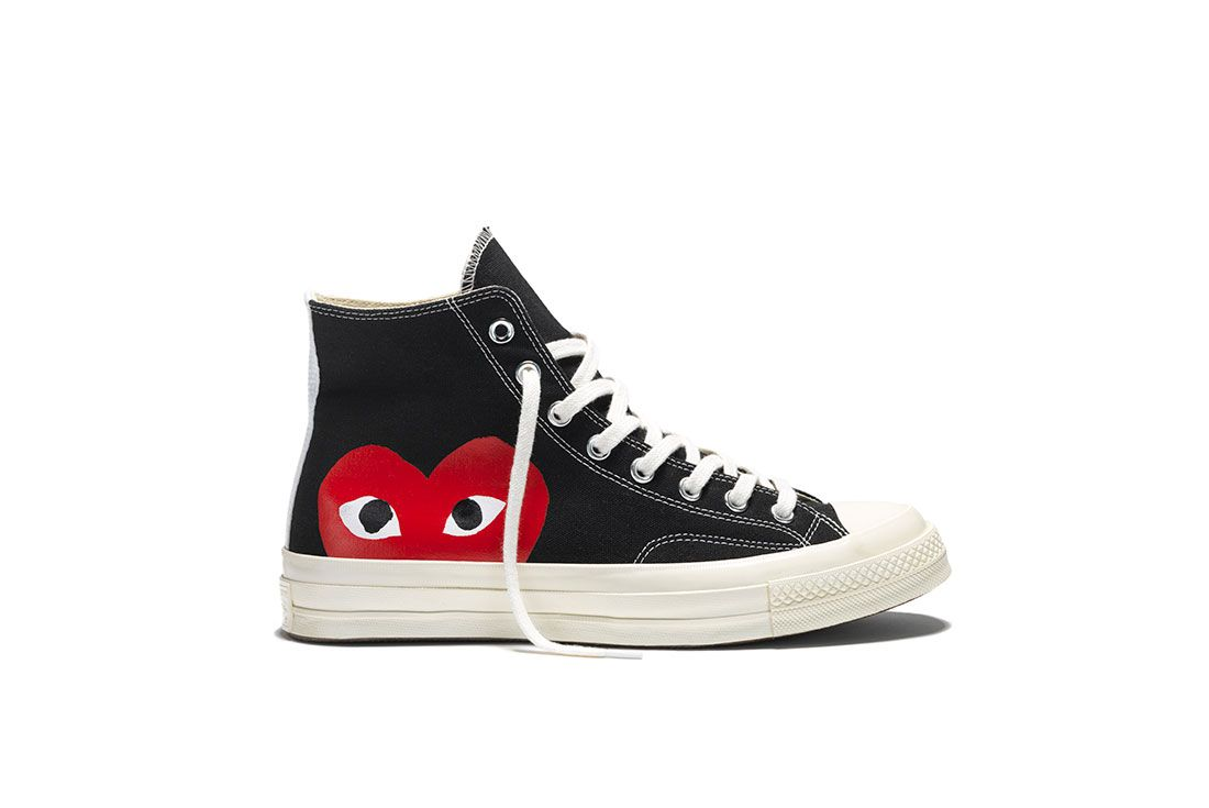 Comme Des Garcons Converse Chuck Taylor 70 High Black Lateral