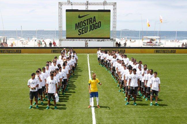 Nike Football Brazil Home Jersey Neymar On Beach Pitch 1