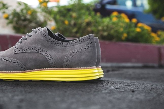 Cole Haan Lunargrand Wingtip Ss13 Grey Heel Detail