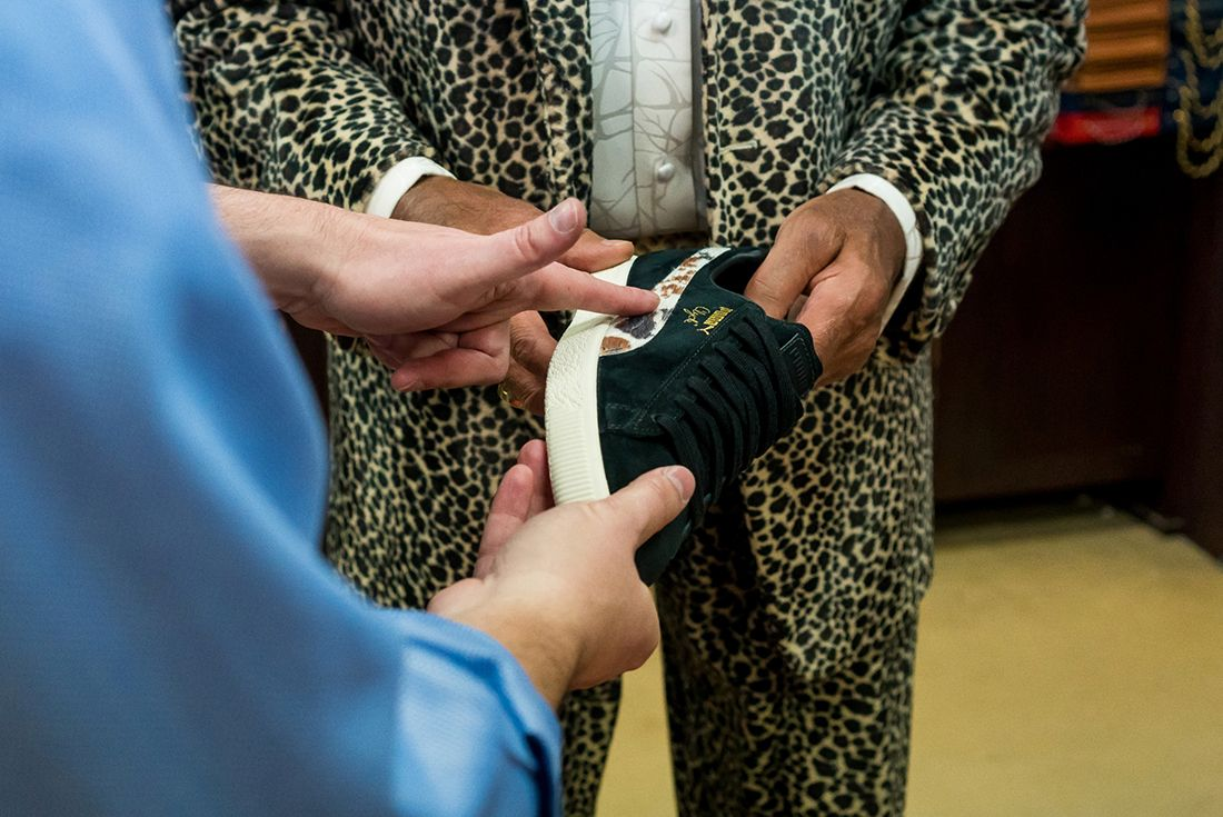 Packer X Puma Clyde Cow Suits Pack6