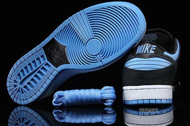 Nike Sb Dunk Low Pro Black University Blue White Available Now 4
