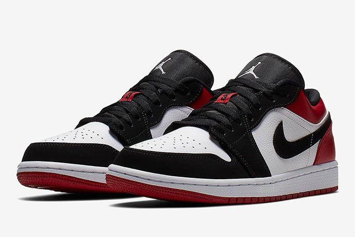 Air Jordan 1 Low Black Toe 553558 116 2