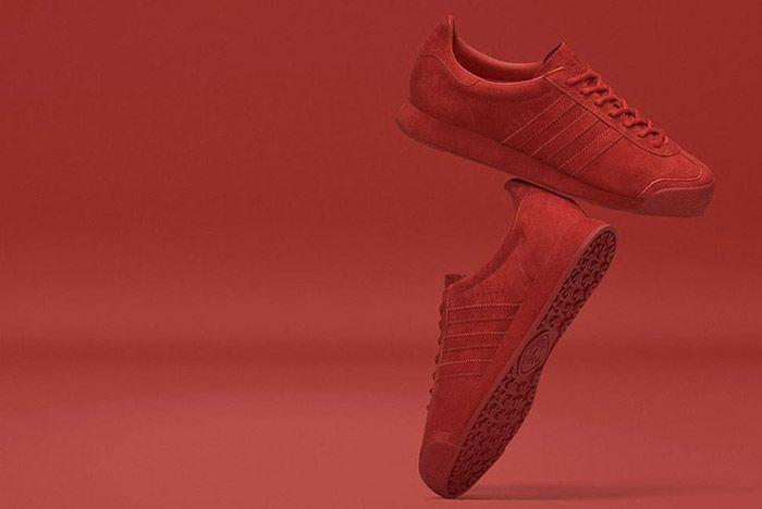 Adidas Samoa Pigskin Suede Red 1