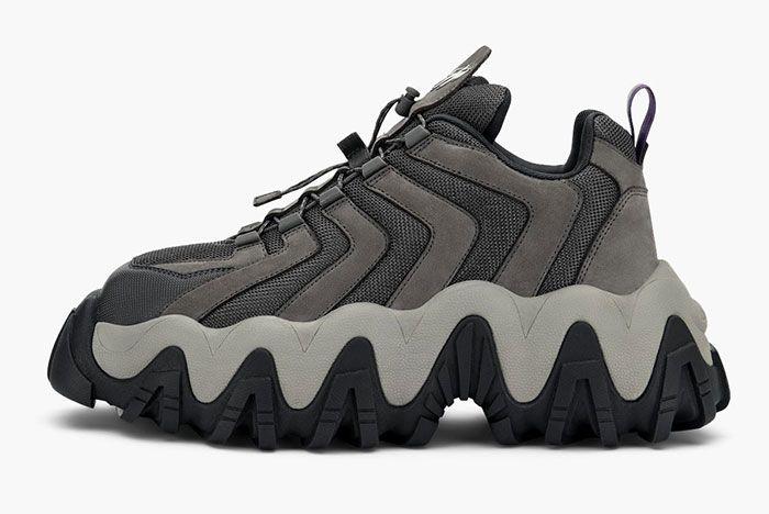 Eytys Halo Sneaker Nubuck Grey Lateral