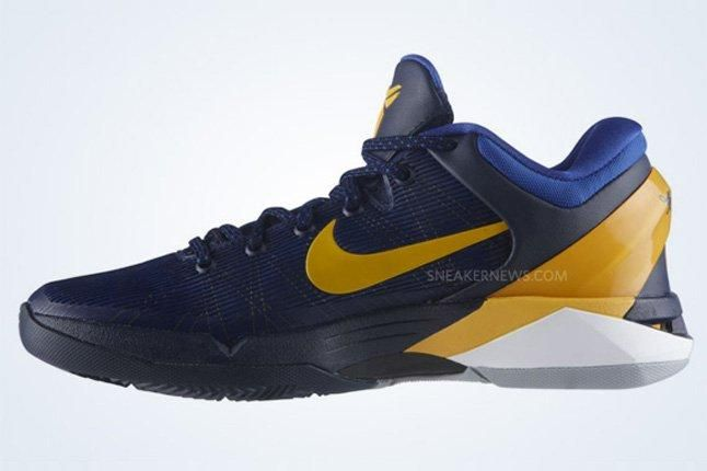 Nike Zoom Kobe Vii Obsidian University Gold Game Royal Wolf Grey 2 1