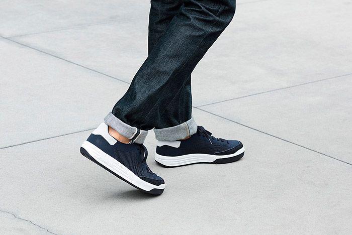 Adidas Rod Laver Primeknit Pk Navy On Feet 3