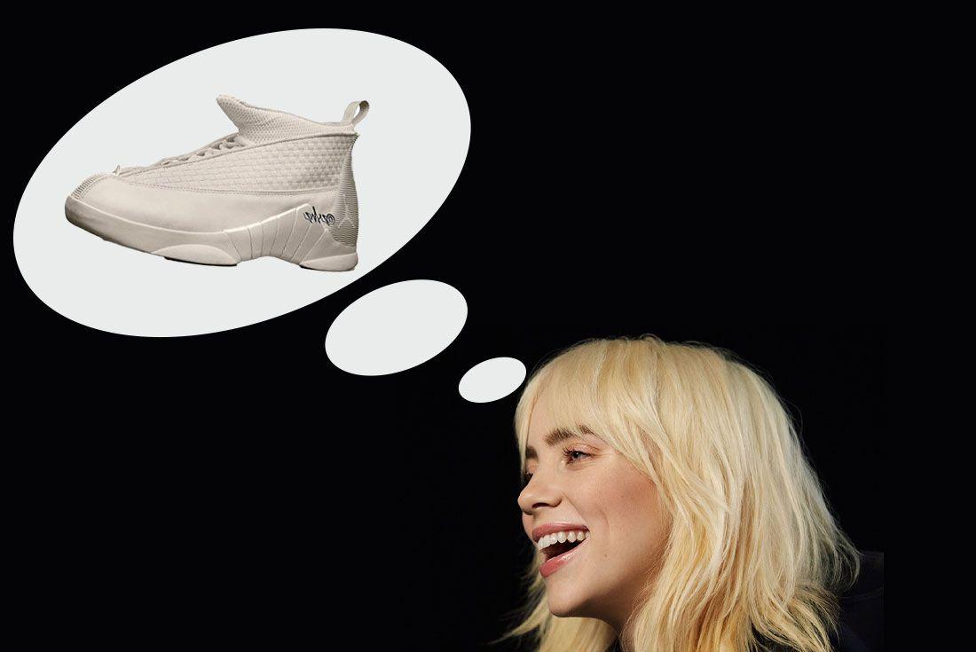 Billie Eilish Air Jordan 15 Mockup znsneakerheadz