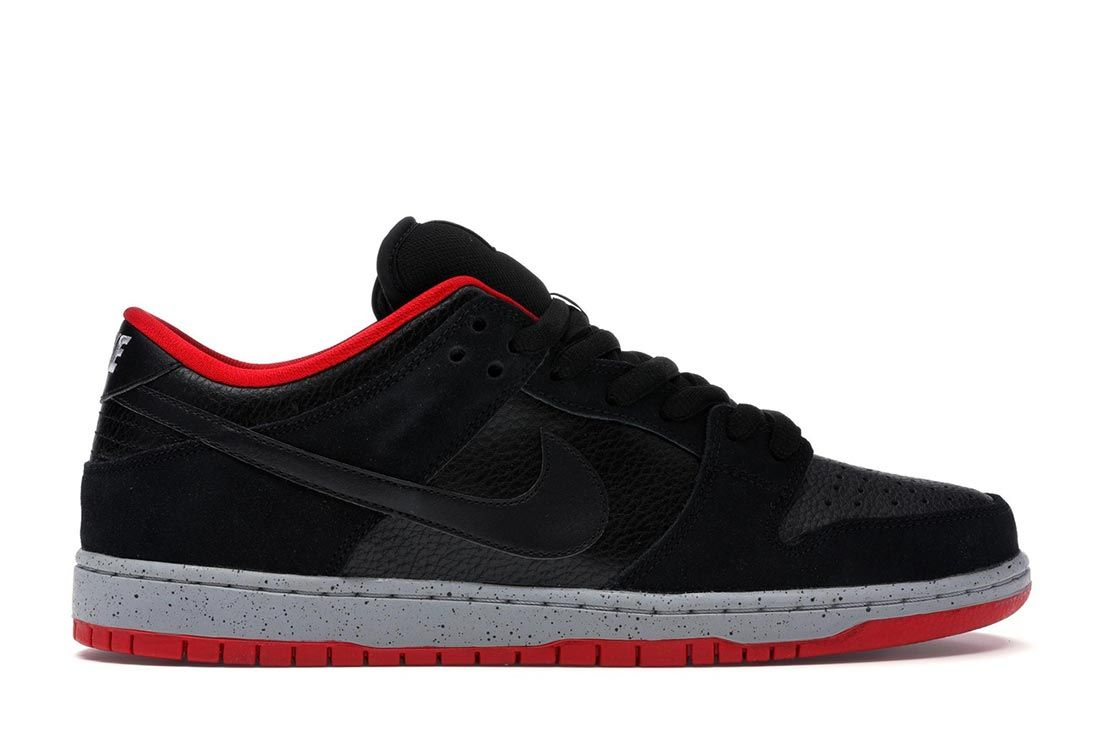 Nike Sb Dunk Black Cement Lateral Side Shot