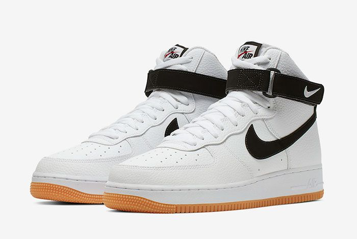 Nike Air Force 1 High White Black Gum At7653 100 Front Angle
