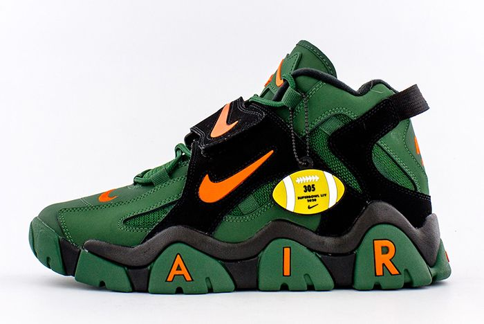 Nike Air Barrage Mid Super Bowl Green