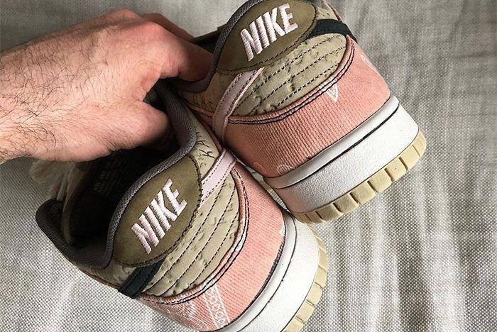 Travis Scott Nike Sb Dunk Low Custom Heel