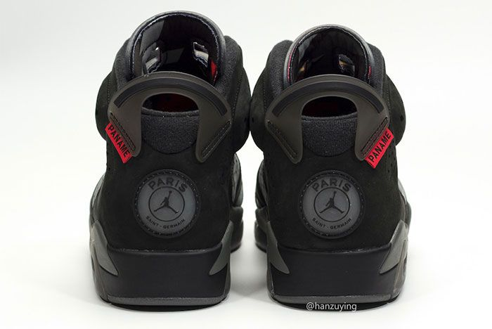 Air Jordan 6 Paris Saint Germaine Heel 2