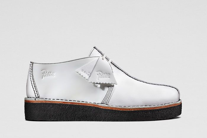 Patta Clarks Desert Trek White Lateral