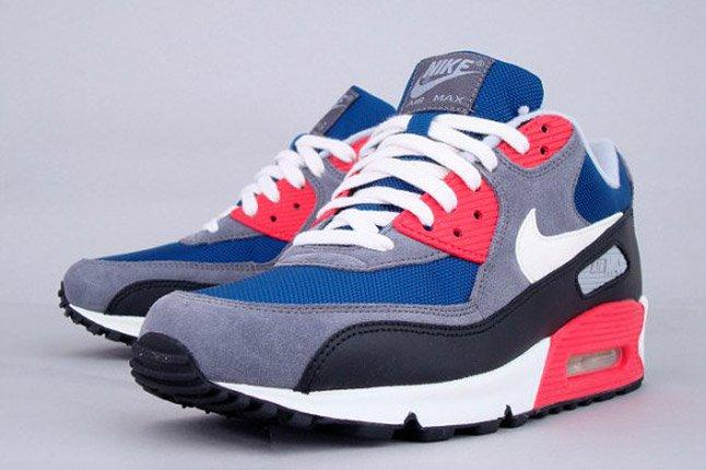Nike Wmns Air Max 90 Dark Royalblue Charcoal 2012 Side Profile 1