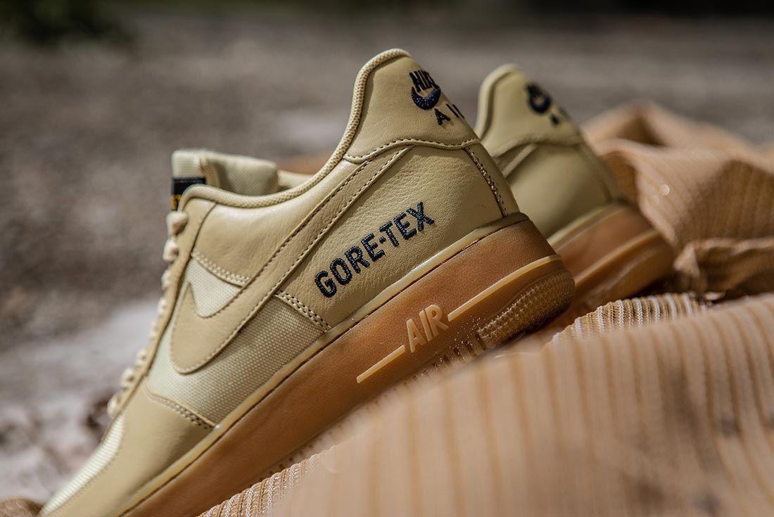 Nike Air Force 1 Gore Tex Beige Heel
