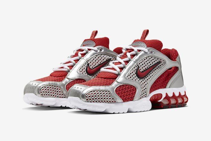 Nike Air Zoom Spiridon Caged Varsity Red Pair