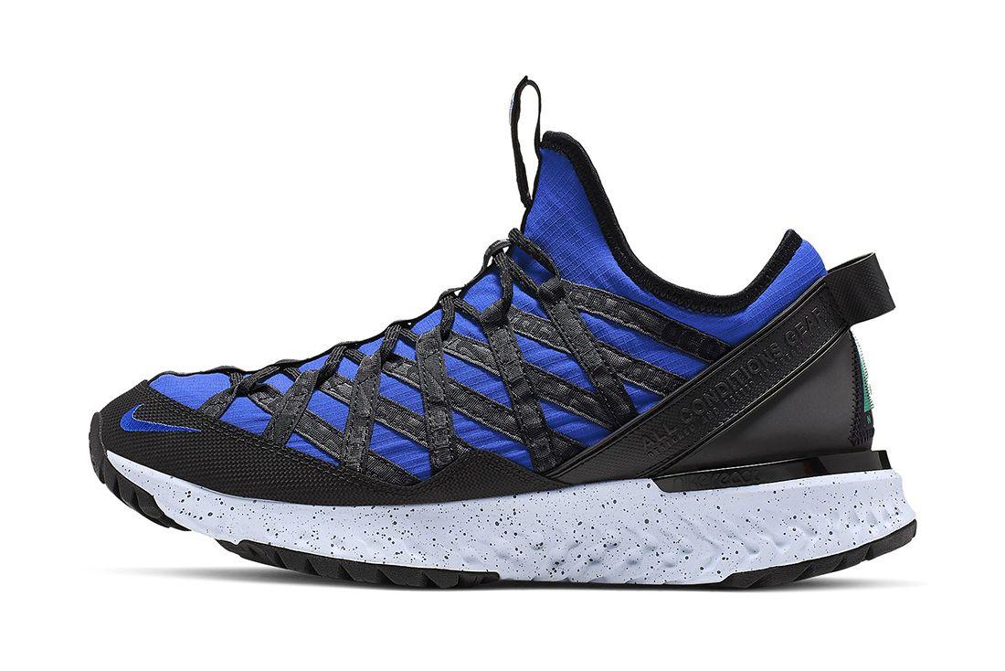 Nike Acg React Terra Gobe Hyper Royal Black Lucid Green Bv6344 400 Lateral