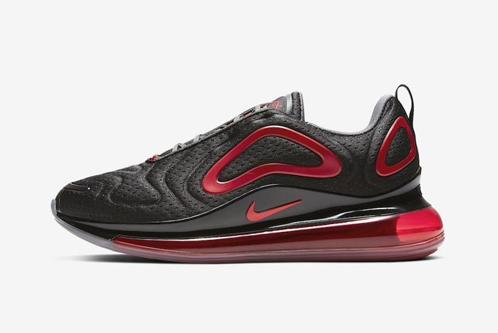 Nike Air Max 720 Black Red Lateral