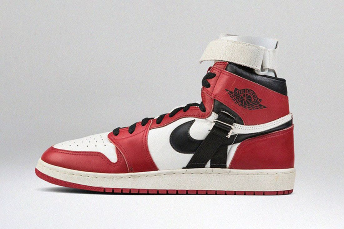 Michael Jordan Game Worn Air Jordan 1 Record Auction 01 Side