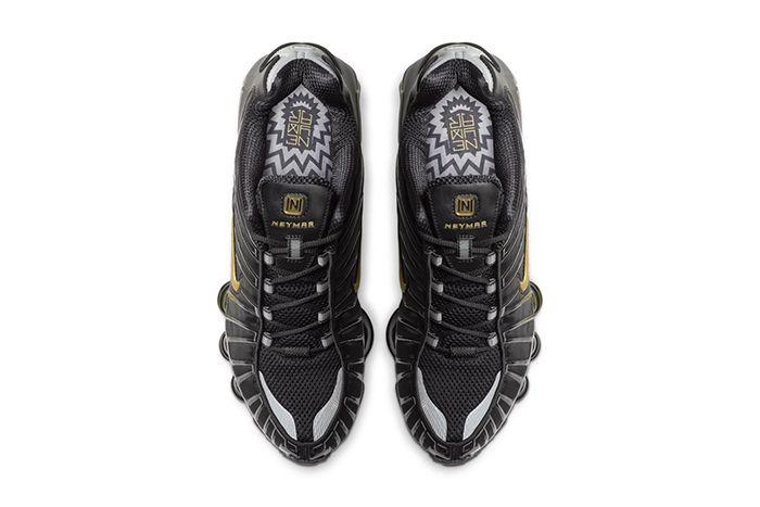 Neymar Nike Shox Tl Black Gold Official Bv1388 001 Release Date Top Down