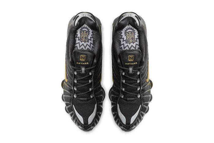 Neymar Nike Shox Tl Black Gold Official Bv1388 001 Release Date Top Down
