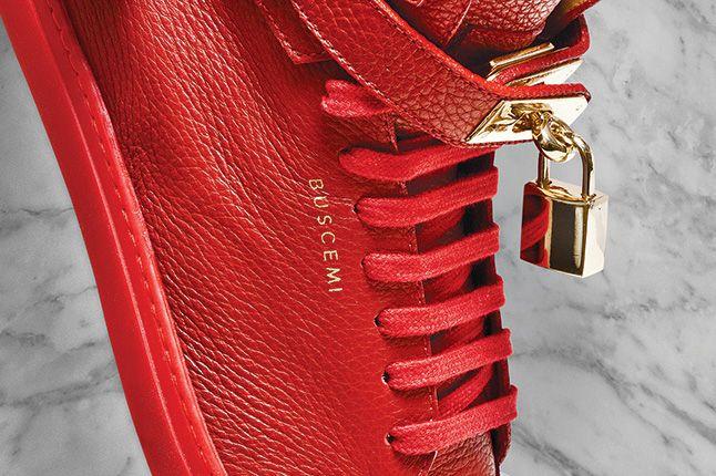 Buscemi Padlock Sneaker Red