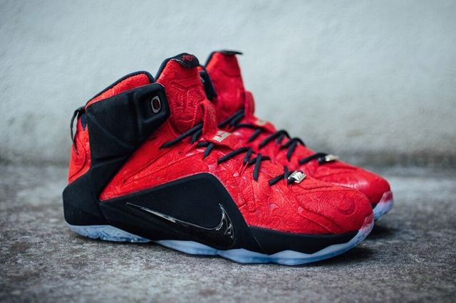 Nike Le Bron 12 Red Paisley 2