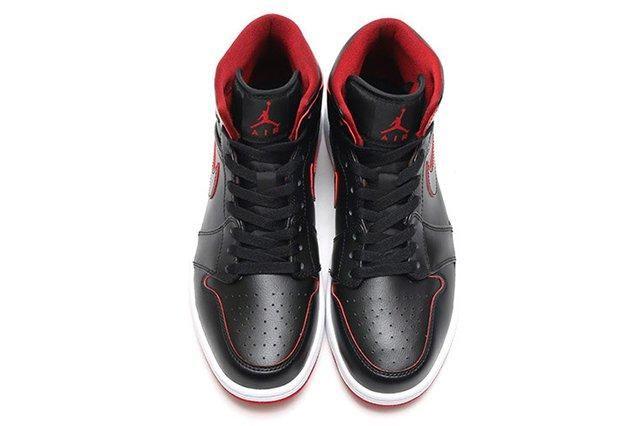 Air Jordan 1 Mid Black Gym Red 3