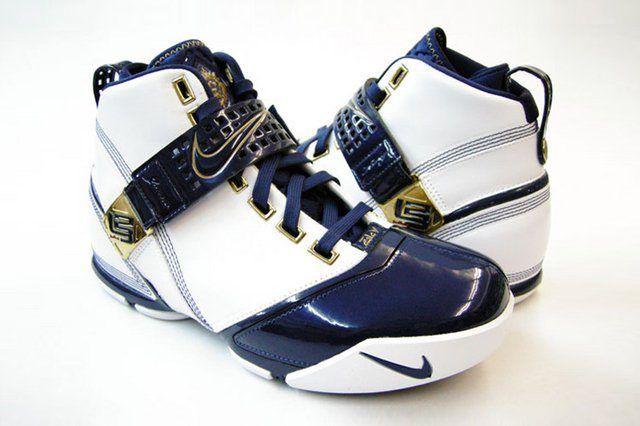 Nike Zoom Lebron 5 V White Navy