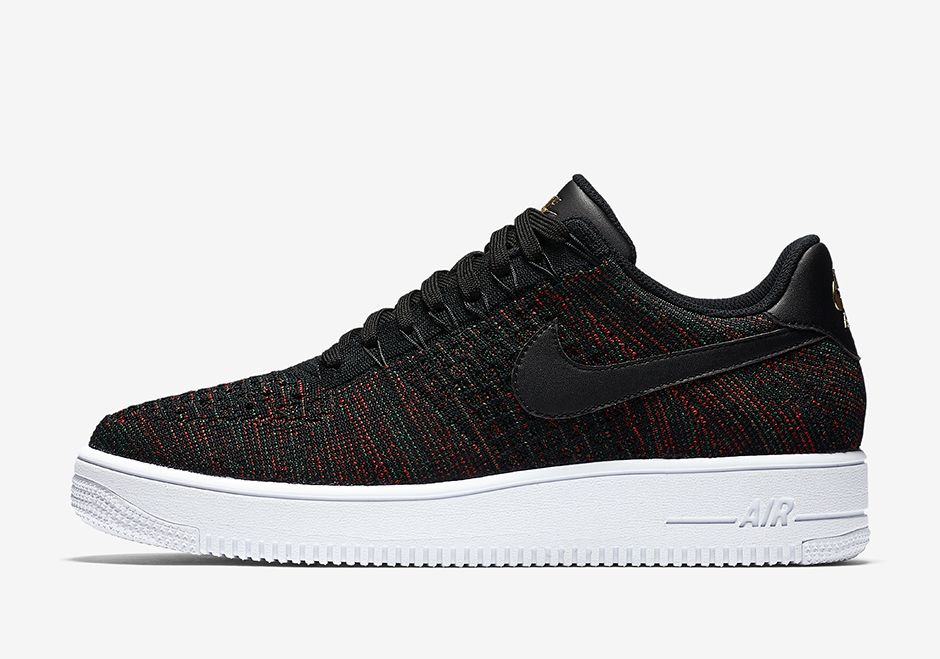 Nike Air Force 1 Low Flyknit Burgundy 817419 005 02