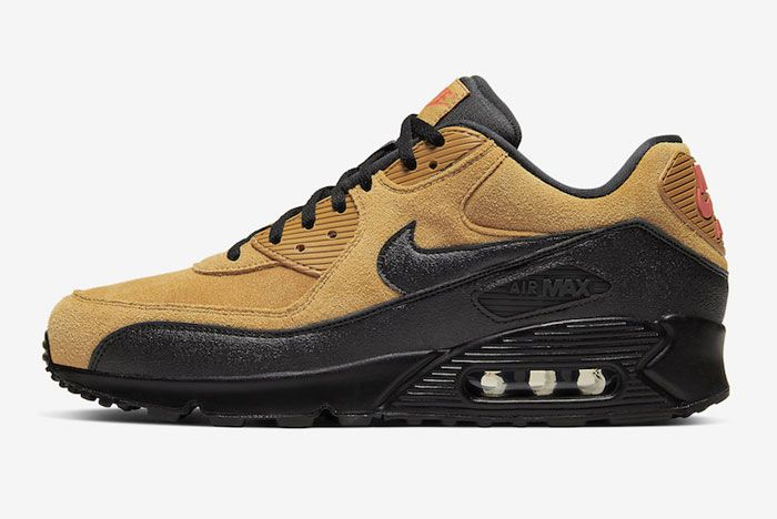 Nike Air Max 90 Wheat Suede Left