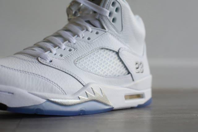 Jordan 5 White Metallic 3