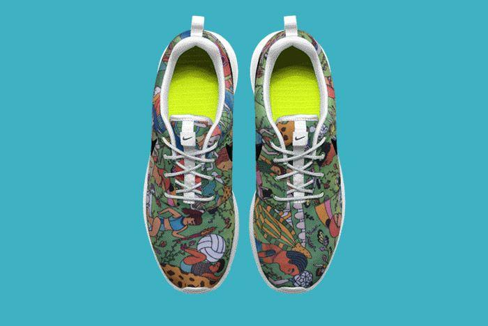 Nike Id Roshe Run Carla Bath 7