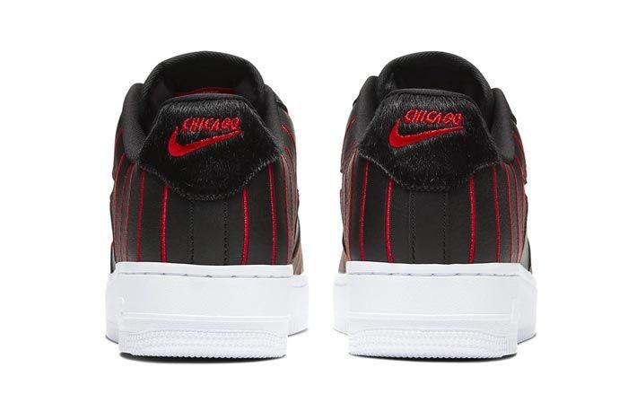 Nike Air Force 1 Jewel Black University Red Heels