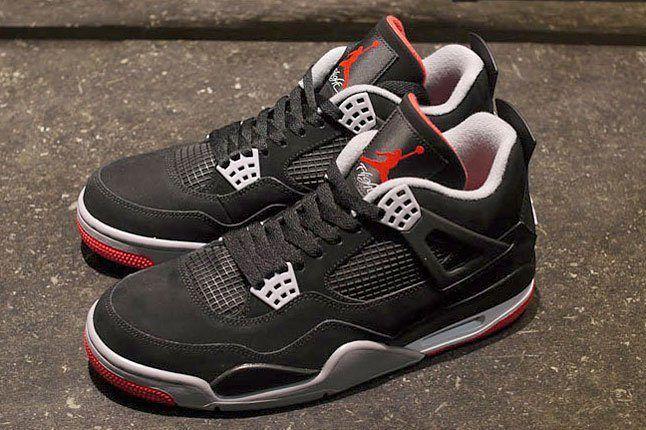 Air Jordan 4 Black Red 1