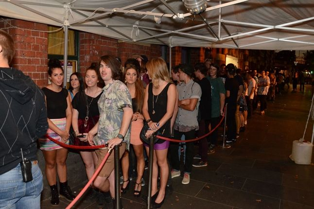 New Era Melbourne Launch Party Producers Series Non Vip In Line Keep Waitin Kids 1