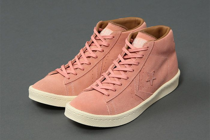 United Arrows Poggy Converse Pro Leather Mid Pink 4