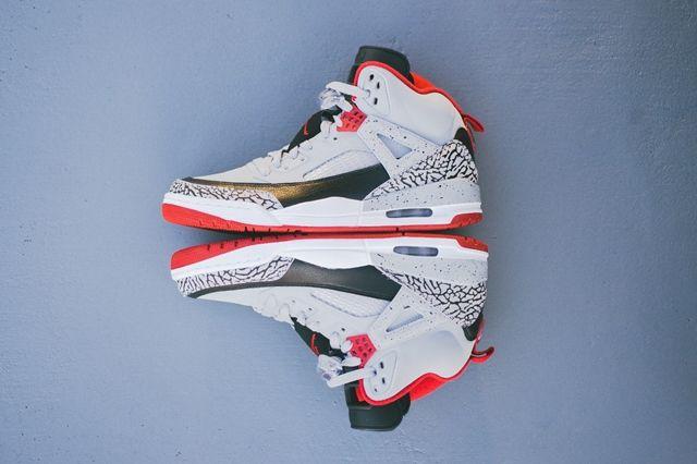 Air Jordan Spizike Wolf Grey Gym Red 1
