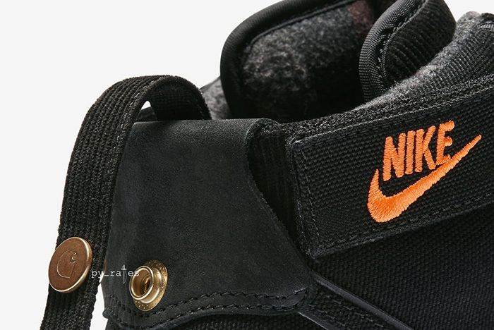 Carhartt Wip Nike Vandal High Supreme Black Gum Light Brown 2