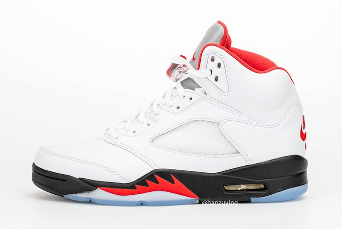 Air Jordan 5 Fire Red Left Side Shot