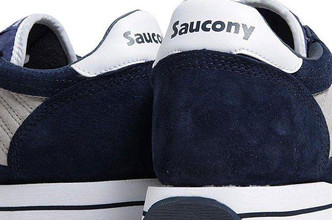 Saucony Jazz Navy Heel 1