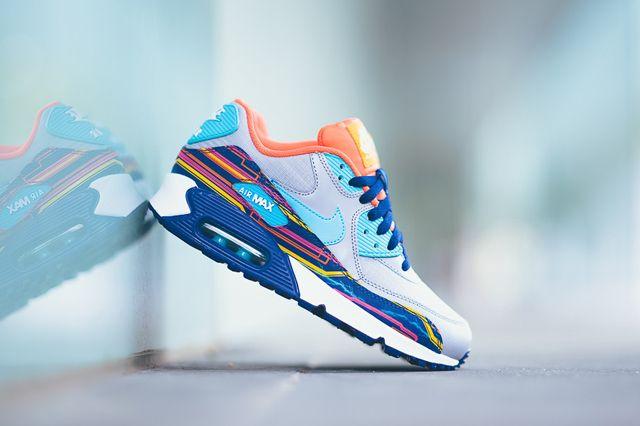 Nike Air Max 90 Prem Mesh Gs 724882 001 Sneaker Politics 9 1024X1024