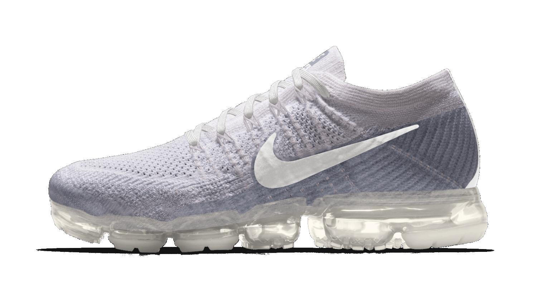 Nikeid Air Vapormax White Clear