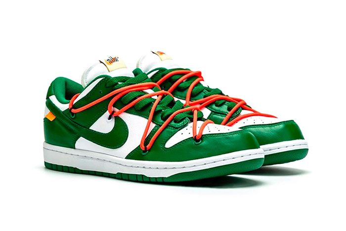 Off White Nike Dunk Low Pine Green Detailed Look 003 Side1