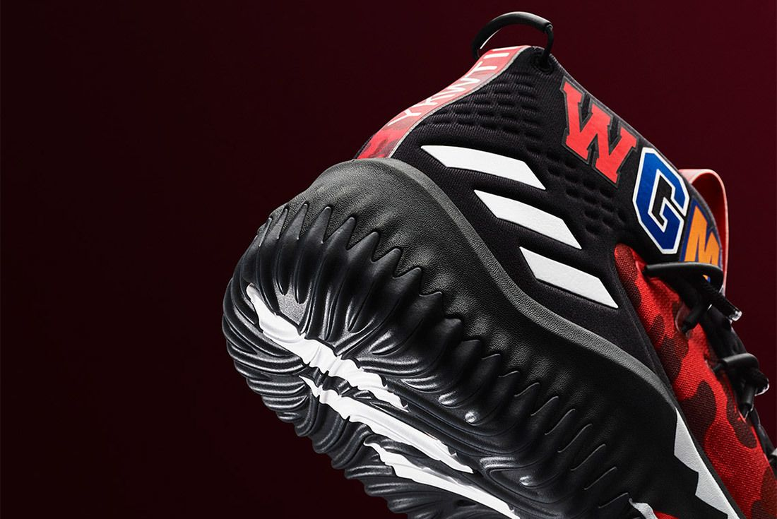Bape Adidas Dame 4 Red Sneaker Freaker 2