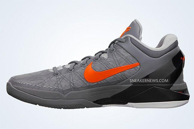 Nike Zoom Kobe Vii Wolf Grey Total Orange Black 2 1