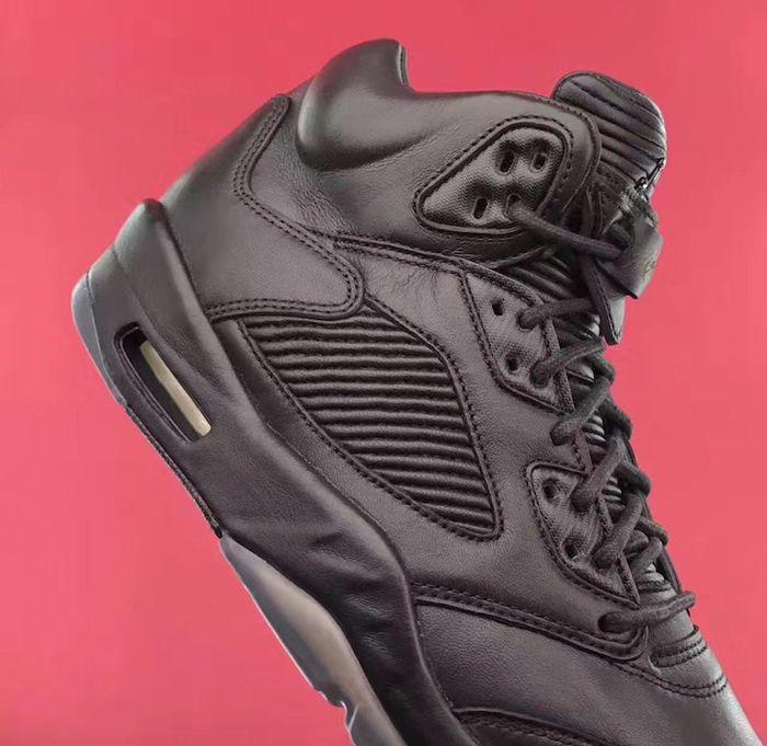 Air Jordan 5 Premium Triple Black6