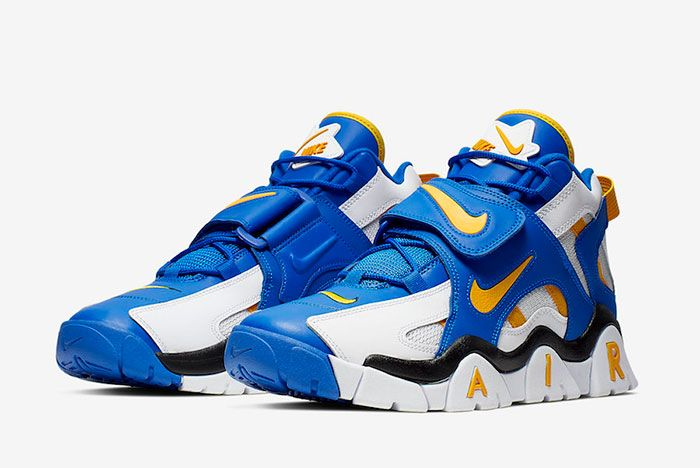 Nike Air Barrage Mid Warriors At7847 100 Front Angle