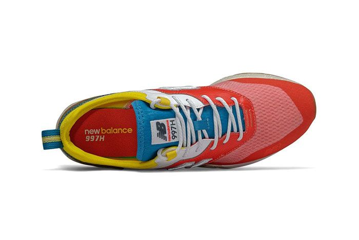 New Balance 997H Spring Hike Trail Neo Flame Blue Yellow Top